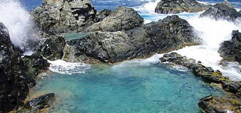 Aruba's Natural Pool, also known as Conchi